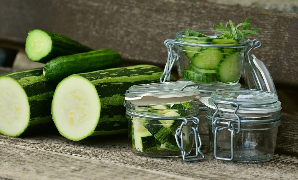 zucchini, vegetables, cucumbers